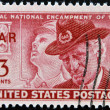 USA - CIRCA 1949: A stamp printed in the USA showing Final National Encampment of the GAR, circa 1949 - Stok fotoraf