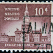 USA - CIRCA 1954: A stamp printed in USA shows Independence Hall, circa 1954 — Stock Photo