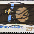Stock Photo: UNITED STATES OF AMERIC- CIRC1991: stamp printed in USshows mercury mariner 10, circ1991