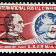 Stock Photo: UNITED STATES OF AMERIC- CIRC1963 : stamp printed in USshows Montgomery Blair, circ1963