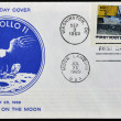 UNITED STATES - CIRCA 1969: A stamp printed in USA shows Neil Armstrong, first man on the moon, apollo 11, circa 1969 — Stock Photo