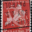 UNITED STATES OF AMERICA - CIRCA 1948: A stamp printed in USA shows New York City, circa 1948 — Stock Photo