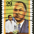 Stock Photo: UNITED STATES - CIRC1993: stamp printed in USshows Percy Lavon Julian, black heritage, circ1993