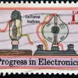 UNITED STATES - CIRCA 1973: stamp printed in USA shows DeForest Audions, progress in electronics, circa 1973 — Stock Photo