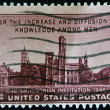 USA - CIRCA 1946: A stamp printed in the USA shows For the increase and diffusion of knowledge among men, Smithsonian institution, circa 1946 — Stock Photo