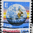 USA - CIRCA 1988: A stamps printed in USA showing the earth, circa 1988 — Stock Photo
