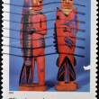 UNITED STATES OF AMERICA - CIRCA 2004: A stamp printed in  USA shows tlingit sculptures, Indian Art, circa 2004 — Stock Photo