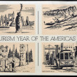 UNITED STATES OF AMERIC- CIRC1972: Americpostal dedicated year in tourism in Americas, 1972 — Stock Photo #9452259