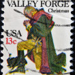 UNITED STATES - CIRCA 1977: A stamp printed in USA shows Washington at Valley Forge, circa 1977 — Stock Photo