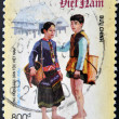 VIETNAM - CIRCA 2005: A stamp printed in Vietnam dedicated to the different ethnic Vietnamese, serie, circa 2005 — Stock Photo
