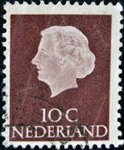 HOLLAND - CIRCA 1964: A stamp printed in the Netherlands shows image of Queen Juliana, circa 1964 — Stock Photo