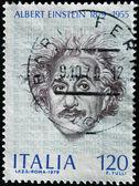 Italien - ca. 1979: eine briefmarke gedruckt in italien zeigt albert einstein, ca. 1979 — Stockfoto