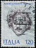 ITALY - CIRCA 1979: A stamp printed in Italy shows Albert Einstein, circa 1979 — Stock fotografie