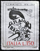 ITALY - CIRCA 1976: A stamp printed in Italy shows work of Marinetti, circa 1976 — Stockfoto