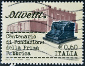 ITALY, CIRCA 2008: A stamp printed in Italy dedicated to centenary Olivetti, Circa 2008 — Stock Photo