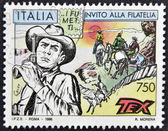 ITALY - CIRCA 1996: A stamp printed in Italy shows Tex Willer, circa 1996 — Stock fotografie