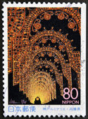 JAPAN - CIRCA 1998: A stamp printed in Japan shows Kobe Luminarie, circa 1998 — Stock Photo