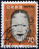 JAPAN - CIRCA 1961: A post stamp printed in Japan shows No-mask of Zoami (Muromachi period), circa 1961 — Stock Photo