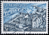 LUXEMBOURG - CIRCA 1969: A stamp printed in Luxembourg shows Echternach, circa 1969 — Stock Photo