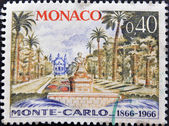 MONACO - CIRCA 1966: A stamp printed in Monaco dedicated to Monte Carlo, circa 1966 — Stock Photo