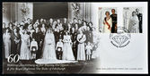 NEW ZEALAND - CIRCA 2007: A stamp printed in New Zealand commemorating the 60th wedding anniversary of Queen Elizabeth II, circa 2007 — Stock Photo