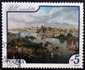 POLAND - CIRCA 1984: A stamp printed in Poland shows painting by Canaletto, circa 1984 — Stockfoto
