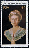 SOUTH AFRICAN - CIRCA 1976: A stamp printed in RSA shows Emily Hobhouse, circa 1976 — Stock Photo