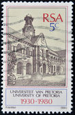 SOUTH AFRICAN - CIRCA 1980: A stamp printed in RSA shows university of Pretoria, circa 1980 — Stock Photo