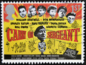 UNITED KINGDOM - CIRCA 2008: A stamp printed in Great Britain shows poster of movie Carrie on Sergeant, circa 2008 — Stock Photo
