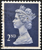 UNITED KINGDOM - CIRCA 2010: An English stamp printed in Great Britain shows Portrait of Queen Elizabeth, circa 2010. — Stock Photo