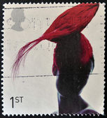 UNITED KINGDOM - CIRCA 2001: A stamp printed in Great Britain dedicated to fabulous hats, shows Toque Hat by Pip Hackett, circa 2001 — Stock Photo