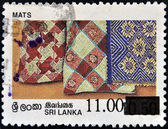 SRI LANKA - CIRCA 1997: A stamp printed in Sri Lanka shows mats, circa 1997 — Stock Photo