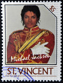 ST. VINCENT - CIRCA 1985: A stamp printed in St. Vincent shows Michael Jackson, circa 1985 — Stock Photo