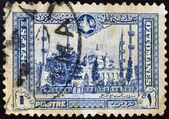 TURKEY - CIRCA 1914: A stamp printed in Turkey shows image Sultan Ahmed Mosque in Istanbul, circa 1914 — Stock Photo