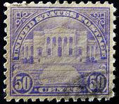 UNITED STATES OF AMERICA - CIRCA 1925: A stamp printed in USA shows Arlington Amphitheater, circa 1925 — Stock Photo