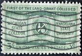 Usa - ca. 1955: eine briefmarke gedruckt in den usa zeigt erste land-grant colleges, ca. 1955 — Stockfoto