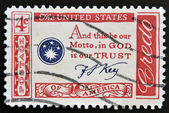 USA - CIRCA 1960 : A stamp printed in the USA shows Credo, and this be our Motto, in GOD is our TRUST, circa 1960 — Stock Photo