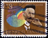 USA - CIRCA 1973 : A stamp printed in the USA shows Henry Ossawa Tanner portrait, American Painter, circa 1973 — Stockfoto