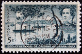 USA - CIRCA 1953: A stamp printed in the USA shows Commodore Matthew C.Perry, US Navy, Centennial of opening of Japan, circa 1953 — Stock Photo