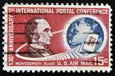 UNITED STATES OF AMERICA - CIRCA 1963 : stamp printed in USA shows Montgomery Blair, circa 1963 — Stock Photo