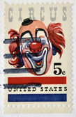 アメリカ合衆国 - 年頃 1966年: 米国で印刷スタンプ年頃 1966年のサーカスを示しています — ストック写真