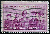 UNITED STATES OF AMERICA - CIRCA 1955: A stamp printed in the USA dedicated to Armed Forces Reserve, circa 1955 — Stock Photo