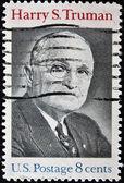 Usa - circa 1973: eine Briefmarke gedruckt in Usa zeigt harry s.truman Porträt, ca. 1973 — Stockfoto