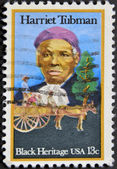 USA - CIRCA 1996 : stamp printed in USA show Harriet Tubman African-American abolitionist, humanitarian, black heritage, circa 1996 — Stock Photo