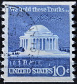 USA - CIRCA 1973: A stamp printed in USA shows Thomas Jefferson Memorial, circa 1973 — Stock Photo