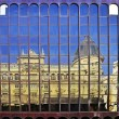 Reflects neoclassical building on the Gran Via of Madrid — Stock Photo