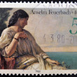 GERMANY - CIRCA 1980: A stamp printed in Germany shows Iphigenia by Anselm Feuerbach, circa 1980 — Stock Photo