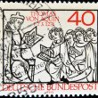 GERMANY - CIRCA 1974: A stamp printed in Germany shows Thomas Aquinas, circa 1974 — Stock Photo