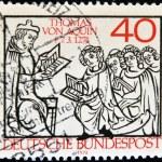 GERMANY - CIRCA 1974: A stamp printed in Germany shows Thomas Aquinas, circa 1974 — Stock Photo
