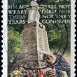 Stock Photo: AUSTRALI- CIRC2008: stamp printed in Australishows Lest We Forget - Age shall not Weary them nor Years Condemn, circ2008